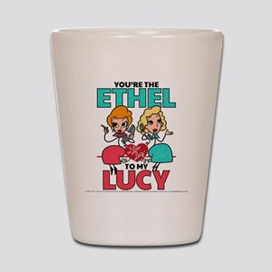 Ethel to my Lucy Shot Glass