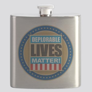 Deplorable Lives Matter Flask