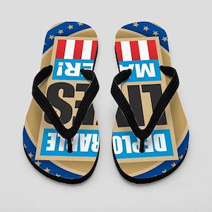 Deplorable Lives Matter Flip Flops