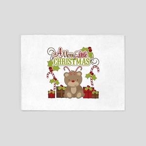 A Merry Little Christmas 5'x7'Area Rug