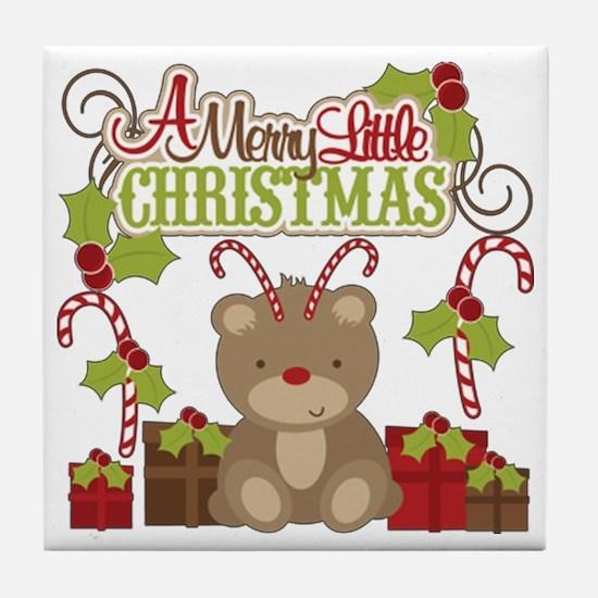 A Merry Little Christmas Tile Coaster