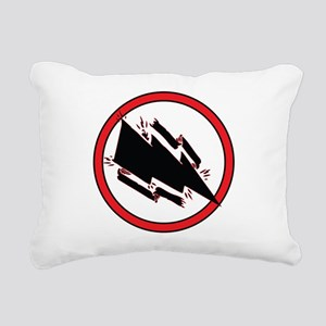 Static Shock Logo Rectangular Canvas Pillow