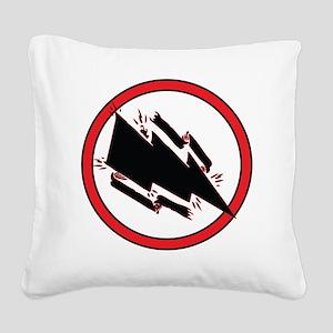 Static Shock Logo Square Canvas Pillow