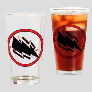Static Shock Logo Drinking Glass
