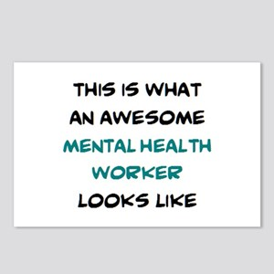 awesome mental health wor Postcards (Package of 8)