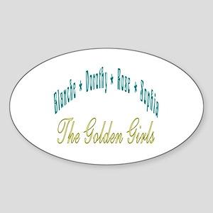 Blanche Dorothy Rose Sophia Sticker (Oval)