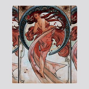 Alfons Mucha 1898 Dance Throw Blanket