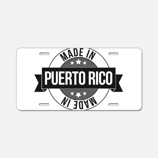 Made in Puerto Rico Aluminum License Plate