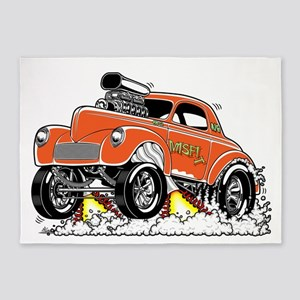 MISFIT- 41 Willys Gasser 5'x7'Area Rug