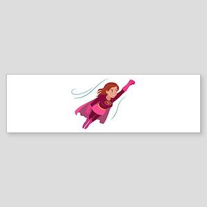 Superhero woman Bumper Sticker