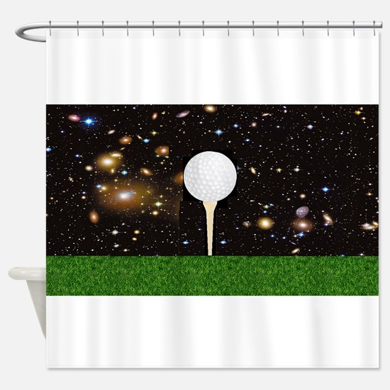 Golf Galaxy Shower Curtain