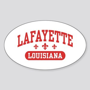 Lafayette Louisiana Sticker (Oval)