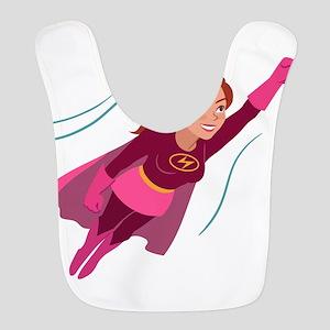 Superhero woman Polyester Baby Bib