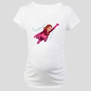 Superhero woman Maternity T-Shirt