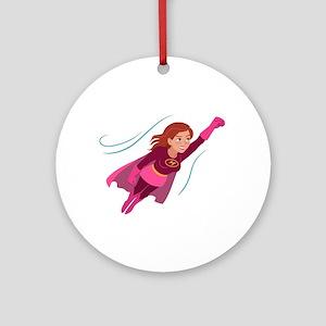 Superhero woman Round Ornament