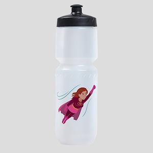 Superhero woman Sports Bottle