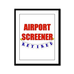 Retired Airport Screener Framed Panel Print