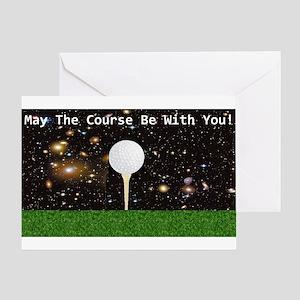 Golf Galaxy Greeting Card