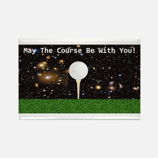 Golf Galaxy Rectangle Magnet