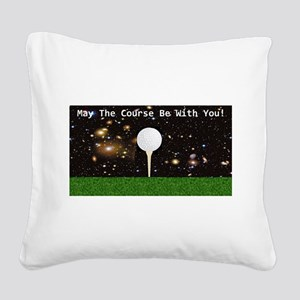 Golf Galaxy Square Canvas Pillow