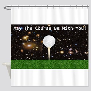 Golf Galaxy Shower Curtain