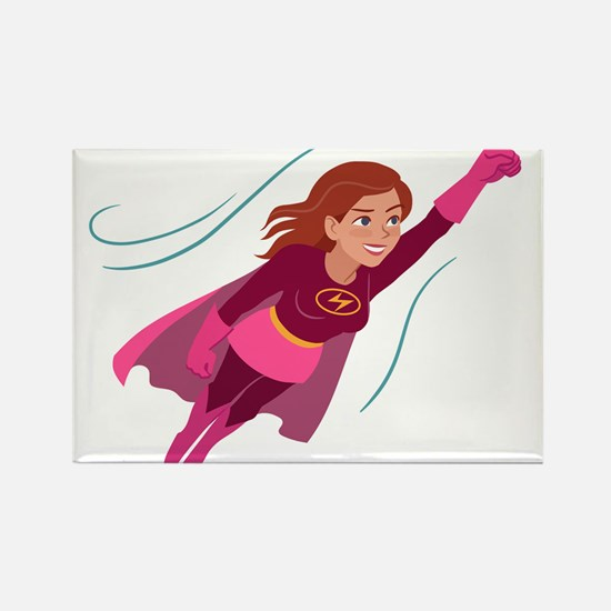 Superhero woman Magnets
