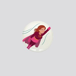Superhero woman Mini Button