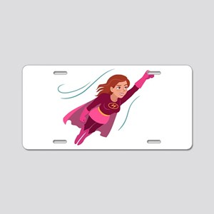 Superhero woman Aluminum License Plate