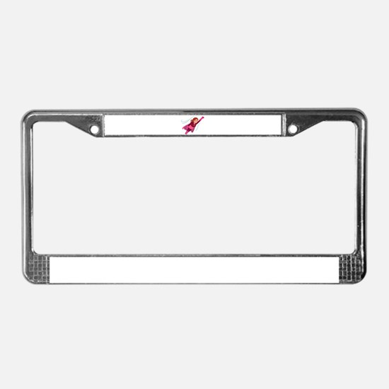 Superhero woman License Plate Frame