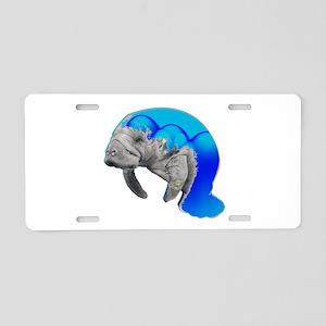 MANATEE Aluminum License Plate