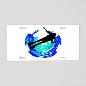 DIVER Aluminum License Plate