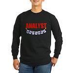 Retired Analyst Long Sleeve Dark T-Shirt