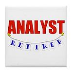 Retired Analyst Tile Coaster