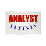 Retired Analyst Rectangle Magnet (100 pack)