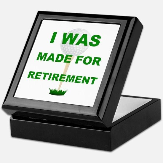 Cool Golf retirement Keepsake Box