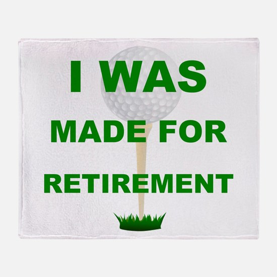 Cute Golf retirement humor Throw Blanket