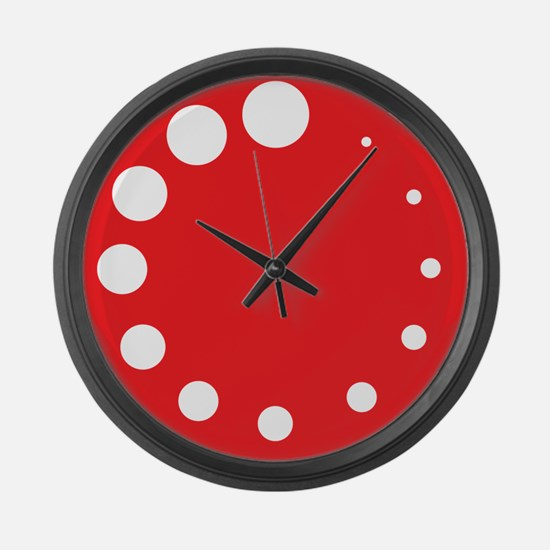 Red Painter's Palette Large Wall Clock