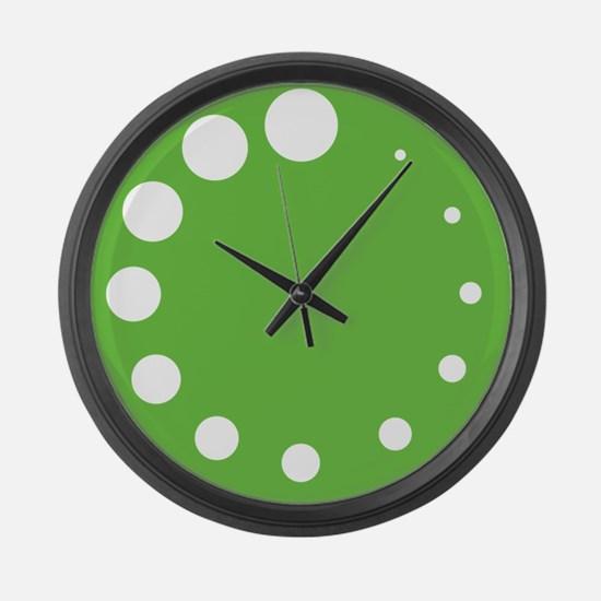 Green Painter's Palette Large Wall Clock