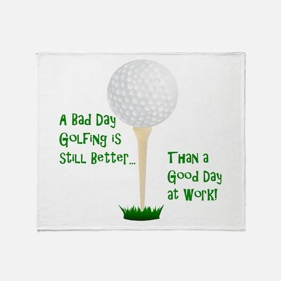 Unique Golf retirement humor Throw Blanket