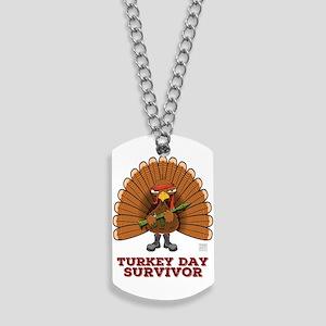 Turkey Day Survivor (thanksgiving) Dog Tags