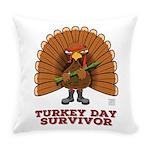 Turkey Day Survivor (thanksgiving) Everyday Pillow