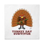 Turkey Day Survivor (thanksgiving) Queen Duvet