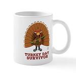 Turkey Day Survivor (Thanksgiving) Mugs