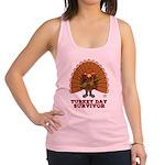 Turkey Day Survivor (Thanksgiving) Racerback Tank