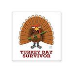 Turkey Day Survivor (thanksgiving) Sticker