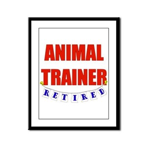 Retired Animal Trainer Framed Panel Print