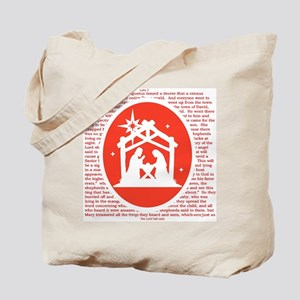 Christmas story Nativity Tote Bag