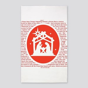 Christmas story Nativity Area Rug