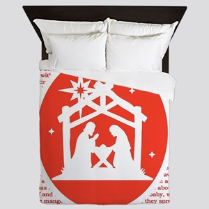 Christmas story Nativity Queen Duvet