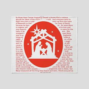 Christmas story Nativity Throw Blanket